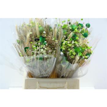 Dried bouquet Fanasia green