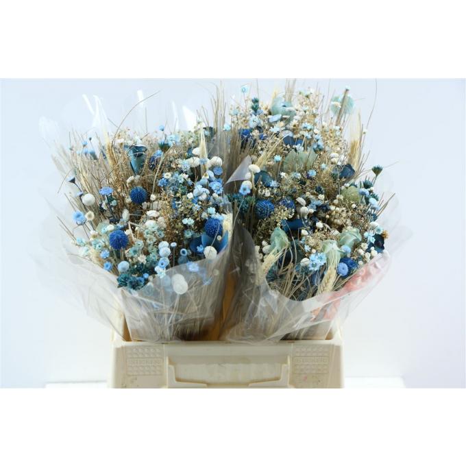 Dried flower bouquet Fantasia blue