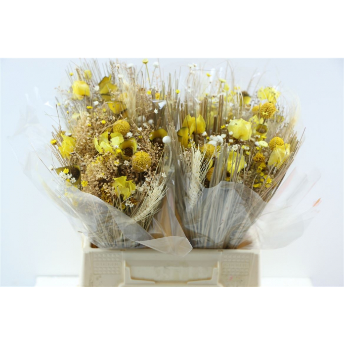Dried flower bouquet Fantasia Yellow