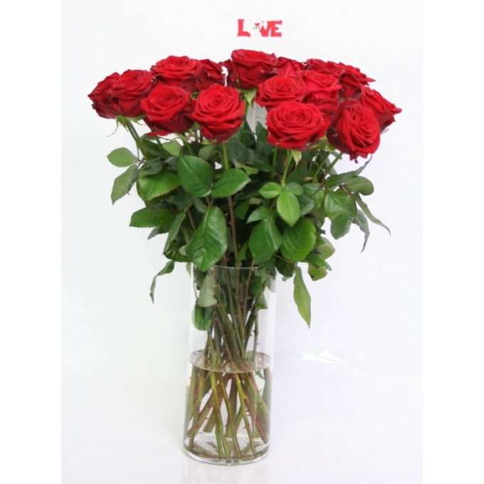 Bouquet red Roses big heads