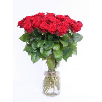 Bouquet of 30 red Roses big heads